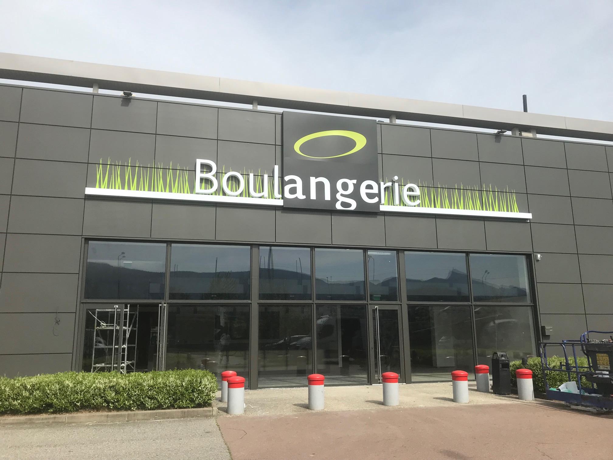 ENSEIGNE LETTRE BOITIER - BOULANGERIE ANGE - SAVOIE PUB -73000 Chambéry
