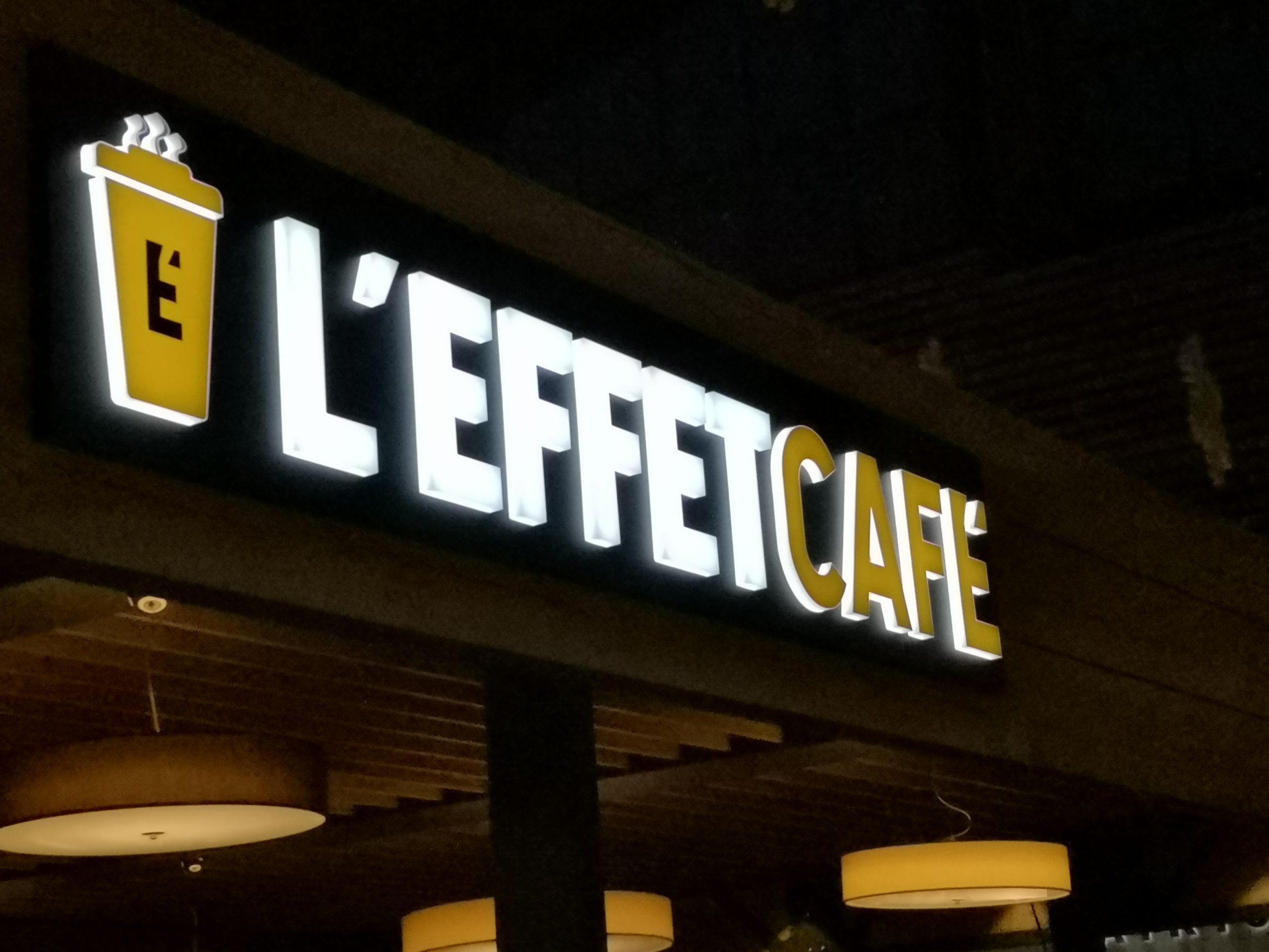 ENSEIGNE BLOC LED - L'EFFET CAFÉ - CHAMBÉRY