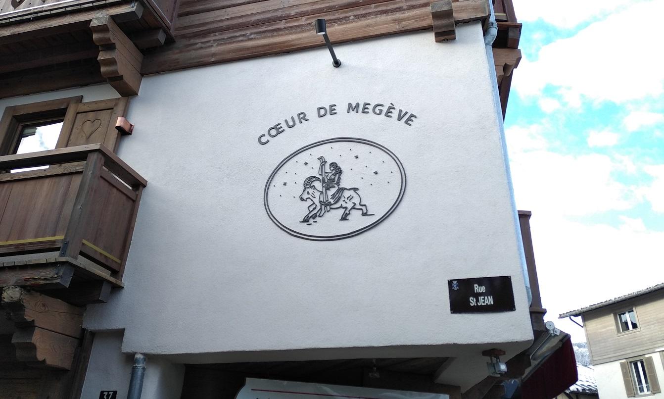 ENSEIGNE - EFFET FER FORGÉ - COEUR DE MEGEVE - 73000 - SAVOIE PUB (1)