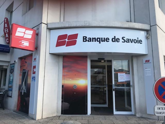 ENSEIGNE ÉVIDÉE - LA BANQUE DE SAVOIE - SAINT-ALBAN-LEYSSE - SAVOIE PUB