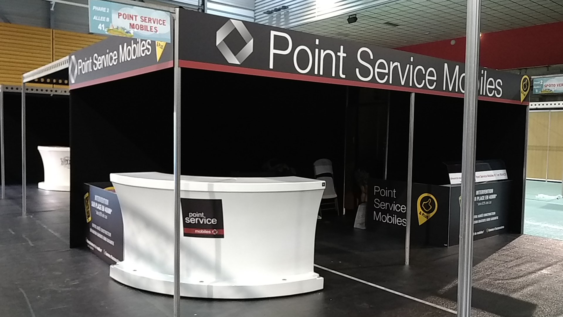 HABILLAGE STAND - POINT SERVICE MOBILE - CHAMBÉRY - SAVOIE PUB