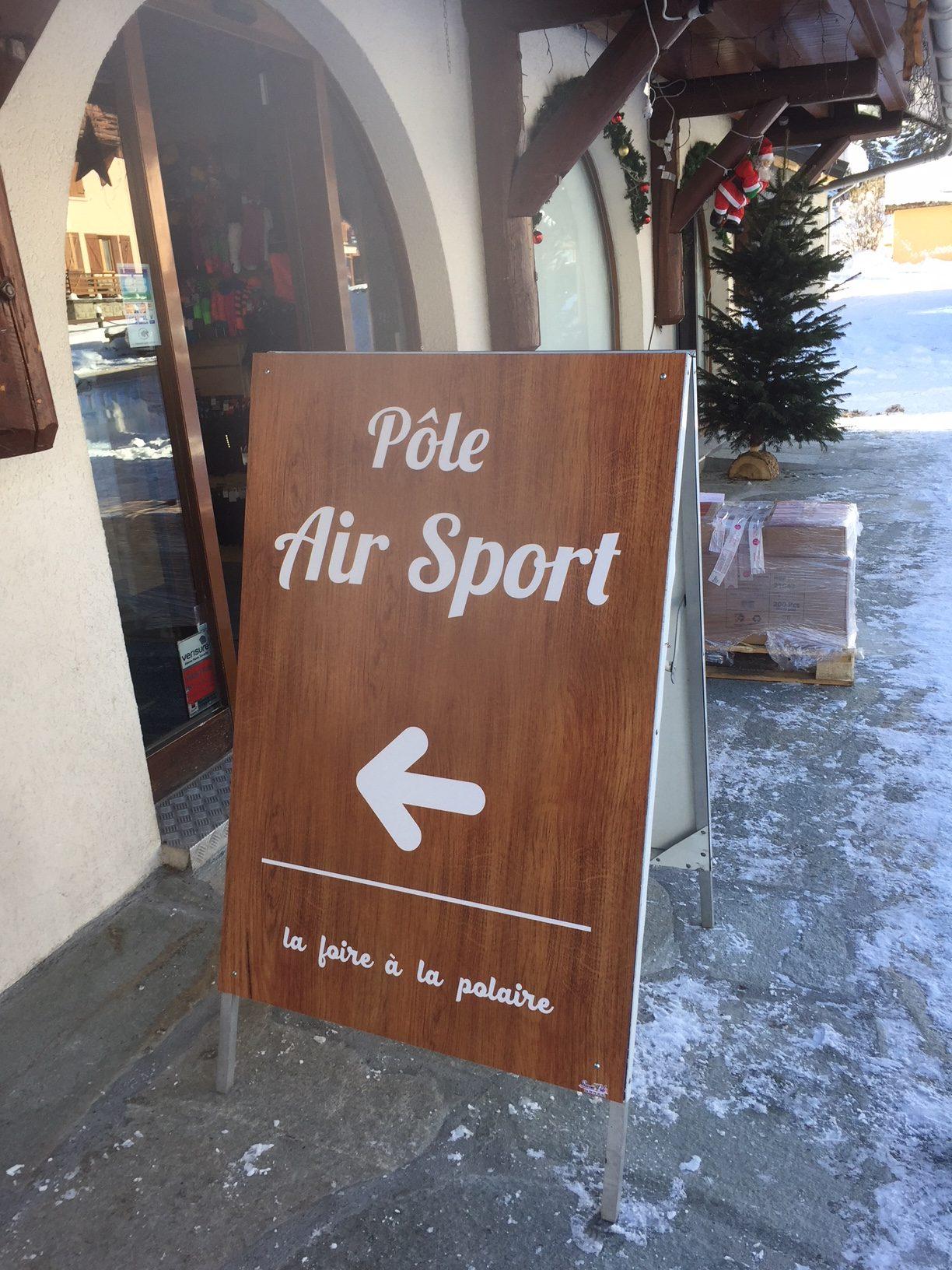 SIGNALÉTIQUE - STOP TROTTOIR - POLE AIR SPORT- 73450 Valloire - SAVOIE PUB