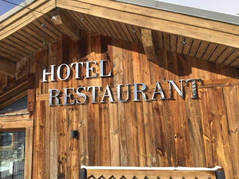 LETTRE BOITIER ALU - HOTEL RESTAURANT - SAVOIE PUB - SAVOIE