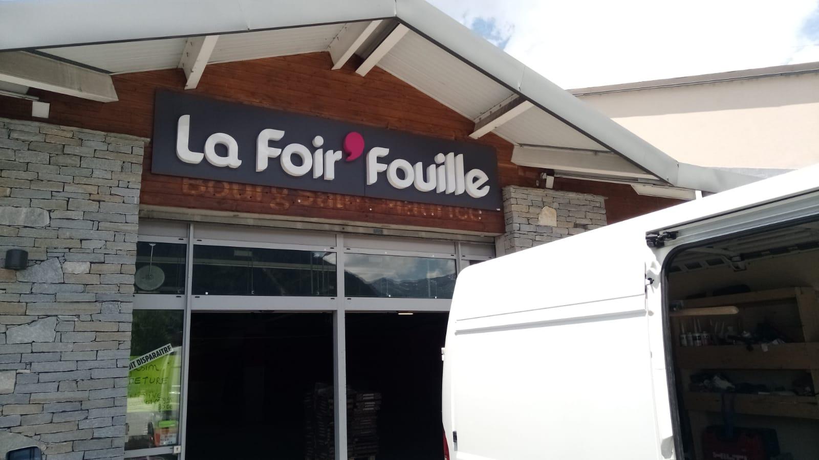 LETTRE BOITIER - LA FOIRE FOUILLE - BOURG ST MAURICE - SAVOIE PUB