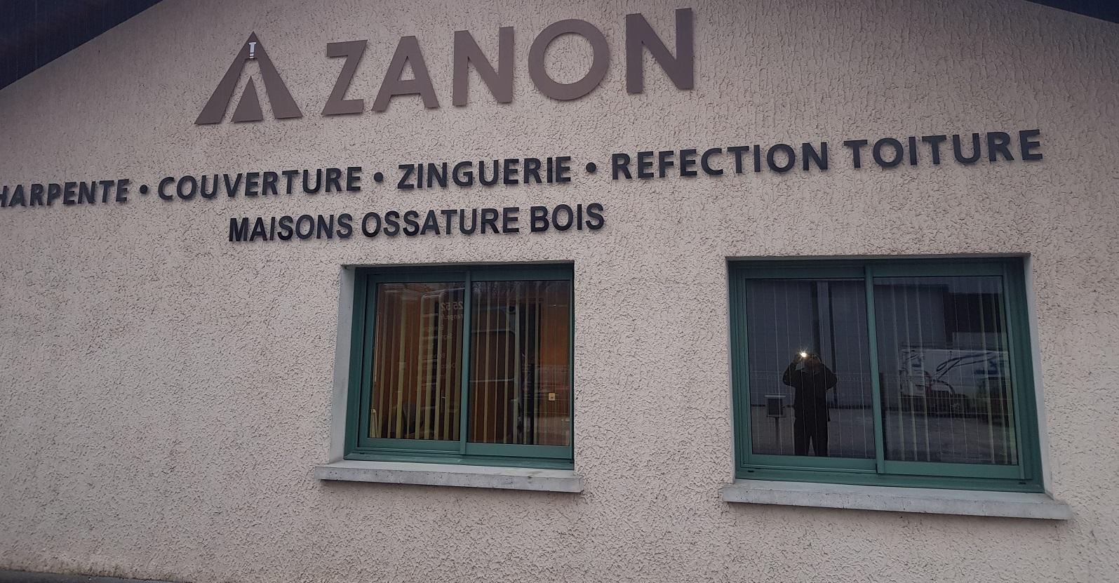 LETTRE DECOUPÉE - ALUMINIUM - ZANON - 73000 - SAVOIE PUB