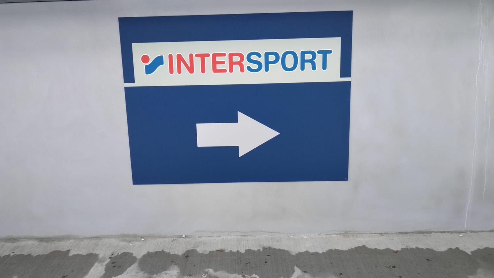 PANNEAU IMPRESSION NUMÉRIQUE - INTERSPORT - MOUTIER - SAVOIE PUB