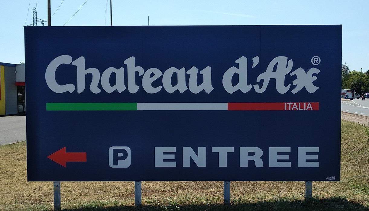 SIGNALETIQUE - PANNEAU DE PARKING - CHATEAU D'AX - 73000 - SAVOIE PUB
