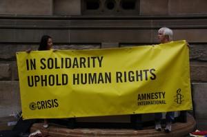 Aktion von Amnesty International