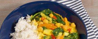 Aprikosen-Spinat-Curry