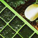 Grüne Eiswürfel