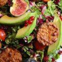 Rucola-Radicchio-Salat mit Tempeh