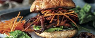 Pulled-Pilz-Sandwich vegan