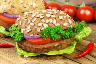Veggie - Burger mit Tofu