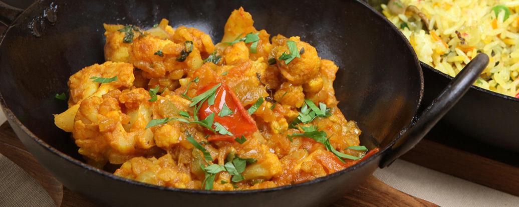 Blumenkohl Kartoffel Balti Vegan Taste Week