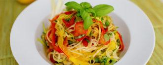 Gemüsenudel-Salat vegan