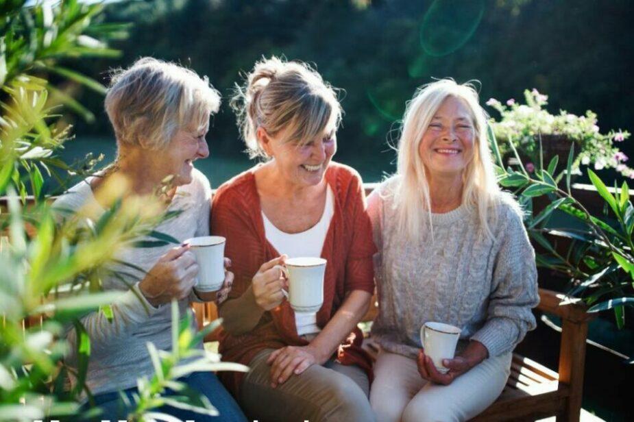 senior ladies socializing in a continuing care retirement community