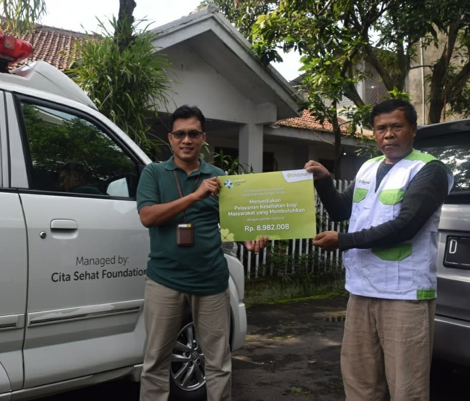 CITA HEALTHY VIRTUAL RUN FOR CARE COLLECT DONATION OF IDR 8,982,008