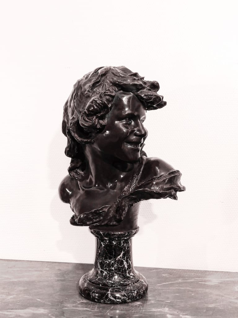 Buste en bronze<b> Injalbert Jean-Antoine</b>