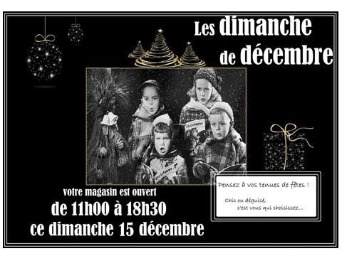ouverture dimanche décembre Le Mans