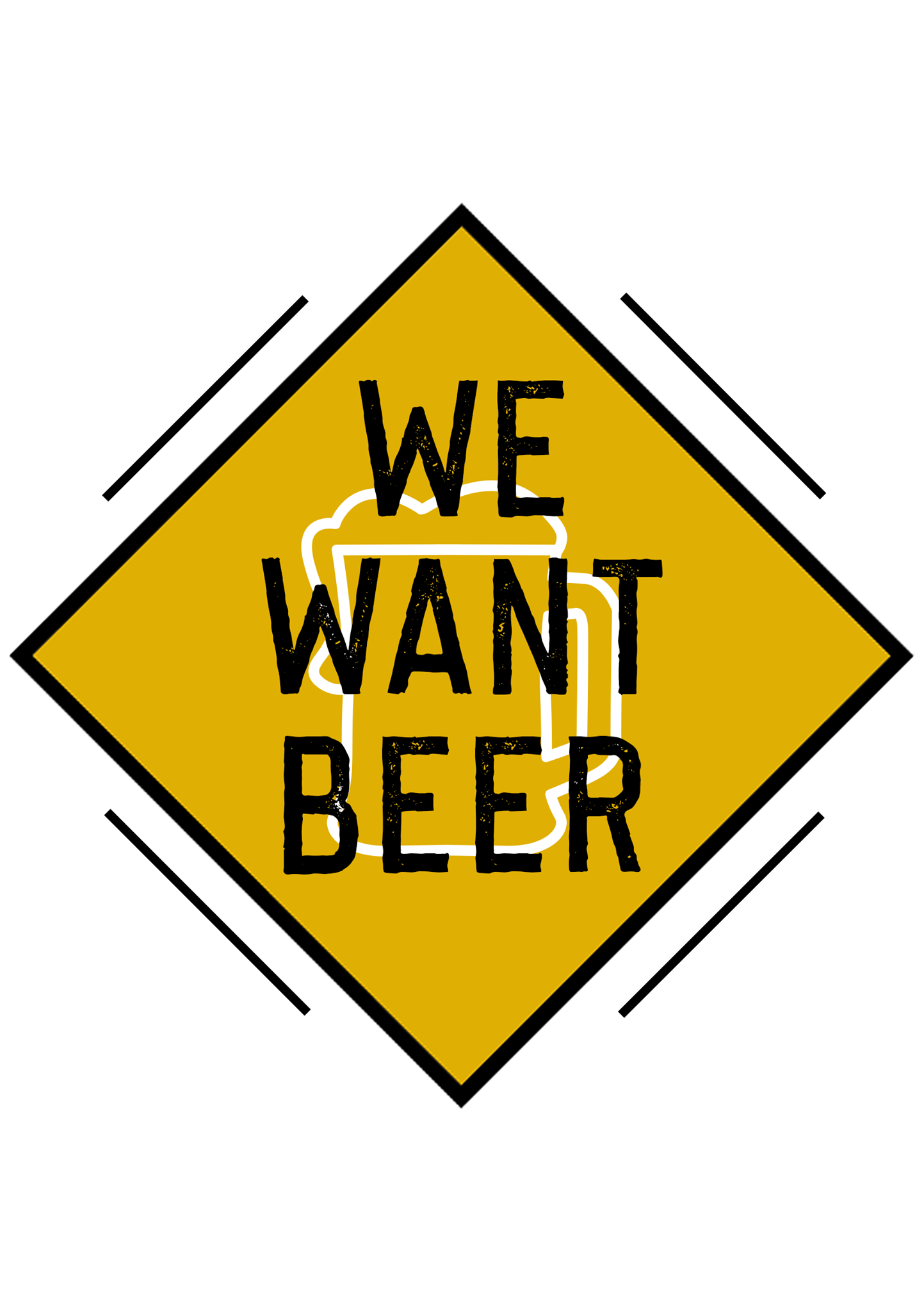 logo We Want Beer