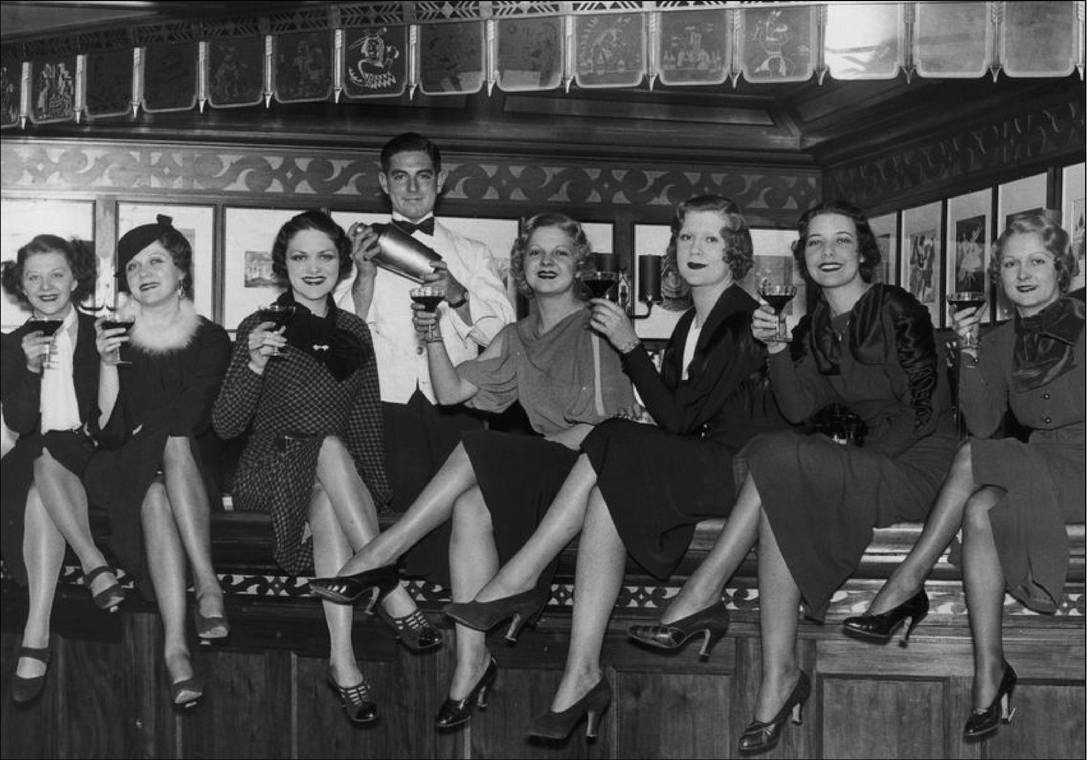 Prohibition : femmes sur le bar