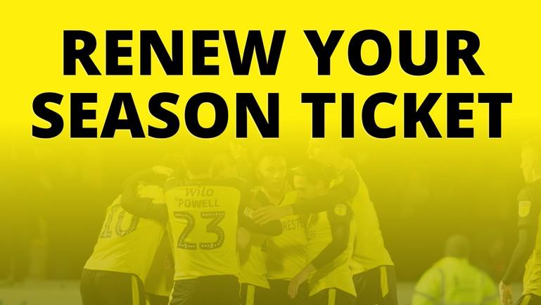 Renew your Season Ticket for 2020-21