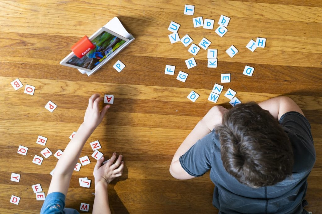 Creative, Analytical Thinking, words, learning games with Osmo