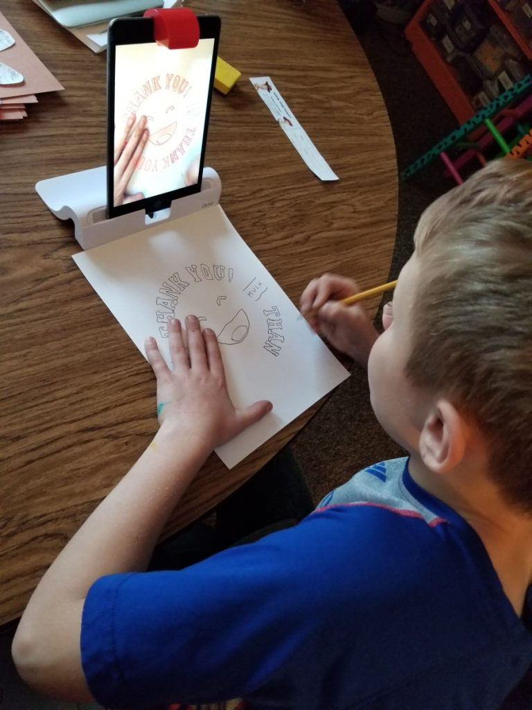 Draw Thank You Note with Osmo Genius Masterpiece