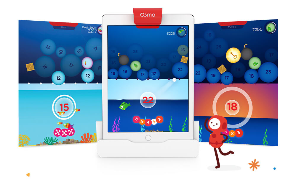 Osmo Numbers propose aux enfants différents modes de jeu - et beaucoup de plaisir !