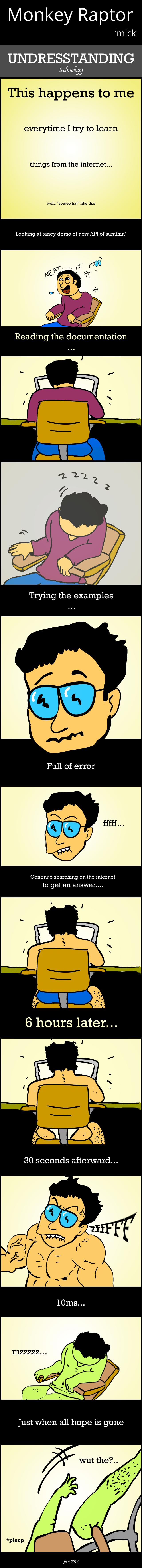 Monkey Raptor comic strip : Undresstanding Technology