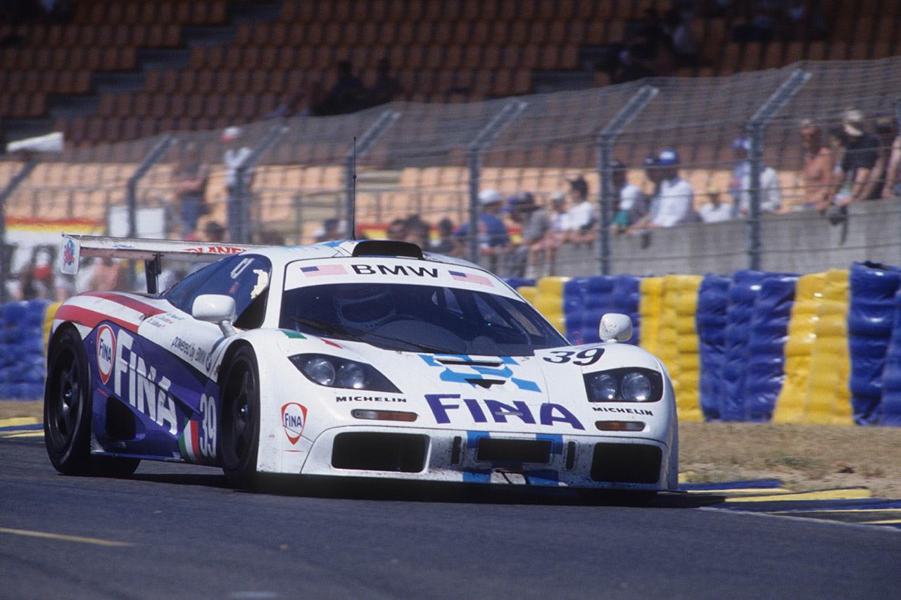La McLaren F1 GTR avec laquelle Johnny Cecotto s'est classé huitième des 24 Heures du Mans en 1996.