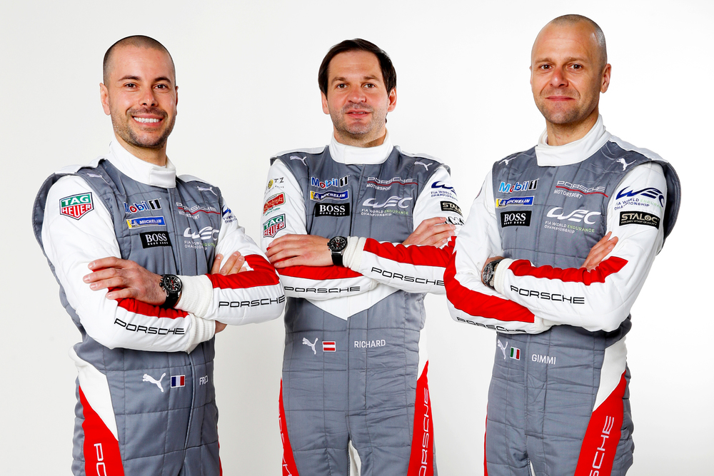 From left to right : Frédéric Makowiecki, Richard Lietz et Gianmaria Bruni