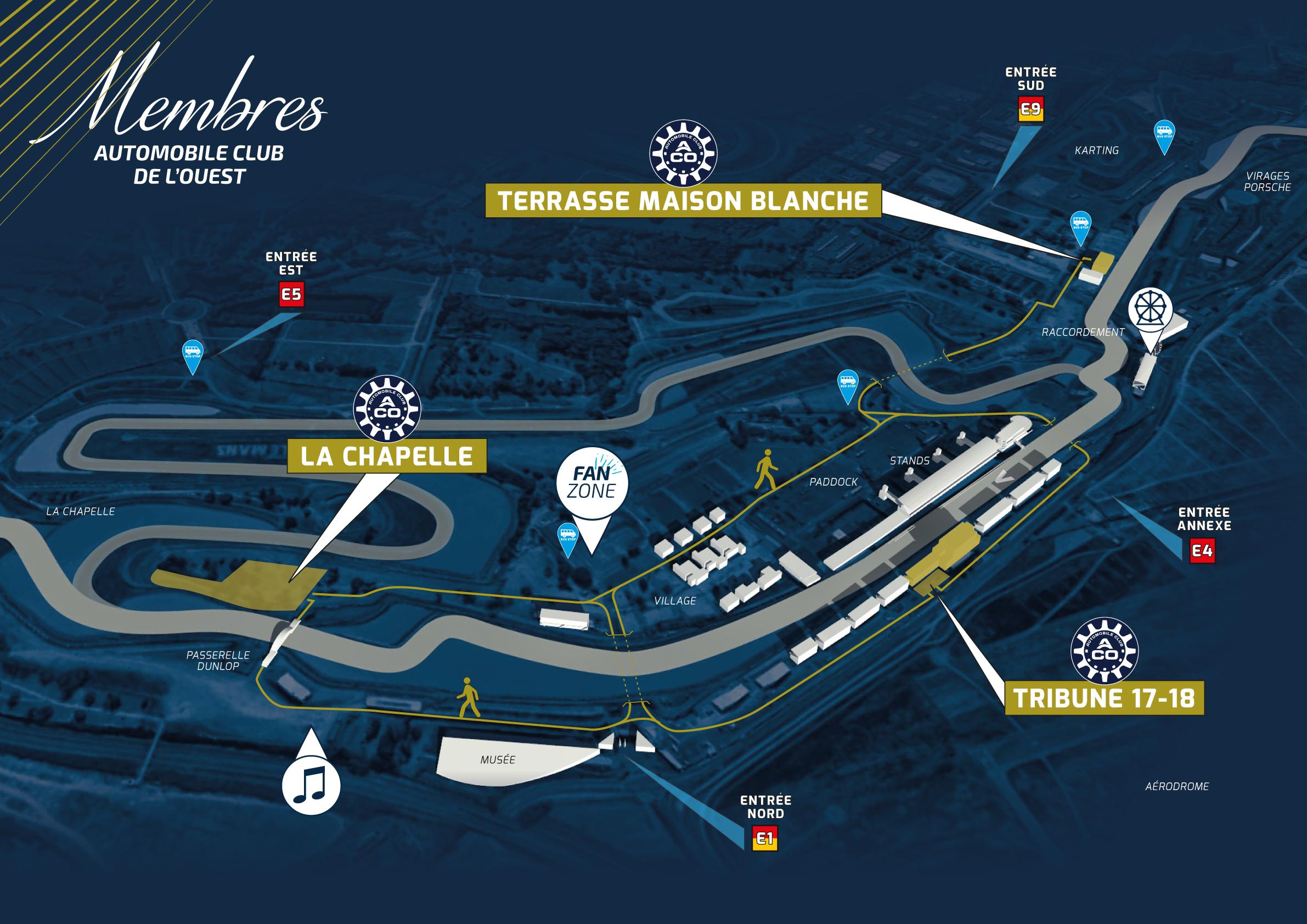 Club ACO   24 Heures du Mans : l'accueil des membres mercredi 12 juin