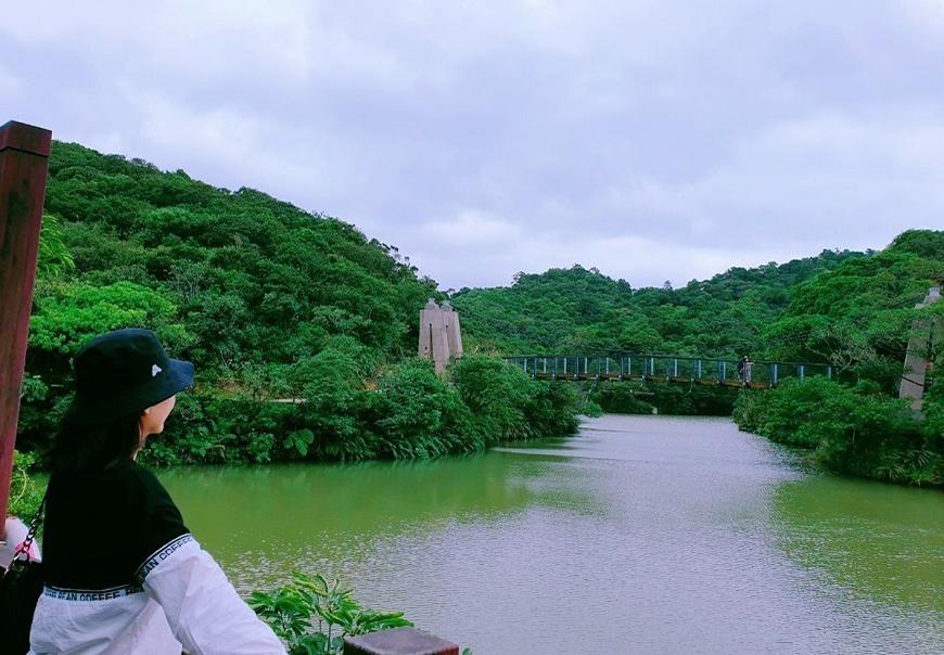 基隆・情人湖公園 |湖光山色情人夢,北台灣最具浪漫色彩的一座橋