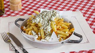 κρεατοφαγείον-πατάτες-τηγανητές-φρέσκες-με-τριμμένη-φέτα