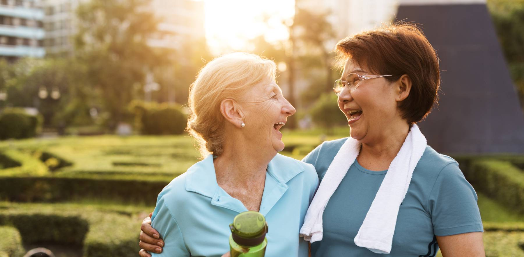seniors staying active outdoors for emotional wellness