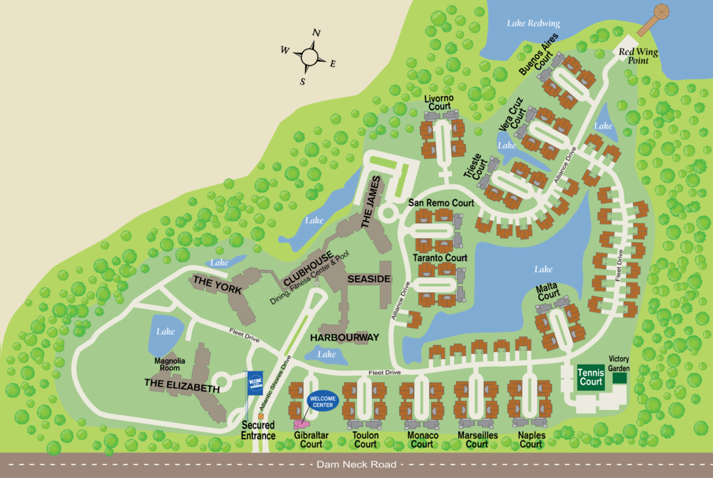 Image of Atlantic Shore Independent Senior Living Community Map