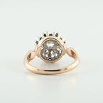 "Estate White & Rose Gold 14K Beautiful White Diamond ""Malinka"" Jewelry Ring"