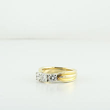 Three Diamond Past Present & Future 0.60 CTW Yellow Gold 14K Engagement Ring