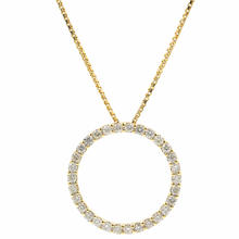 Classic Ladies 14K Yellow Gold Diamond .75CTW Eternity Pendant Chain Necklace