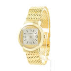 "Vintage Longines Estate Ladies 14K Yellow Gold Diamond 0.05CTW 7"" Watch"