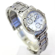 Ladies Bulova 96R19 Diamond-Studded Chronograph Women's Watch