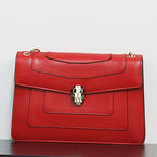 Authentic Bulgari Bvlgari Serpenti Forever Snake Shoulder Red Bag Clutch