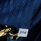 100% Authentic PRADA Saffiano Small Double Zip Tote Bag Blue Bluette Tote