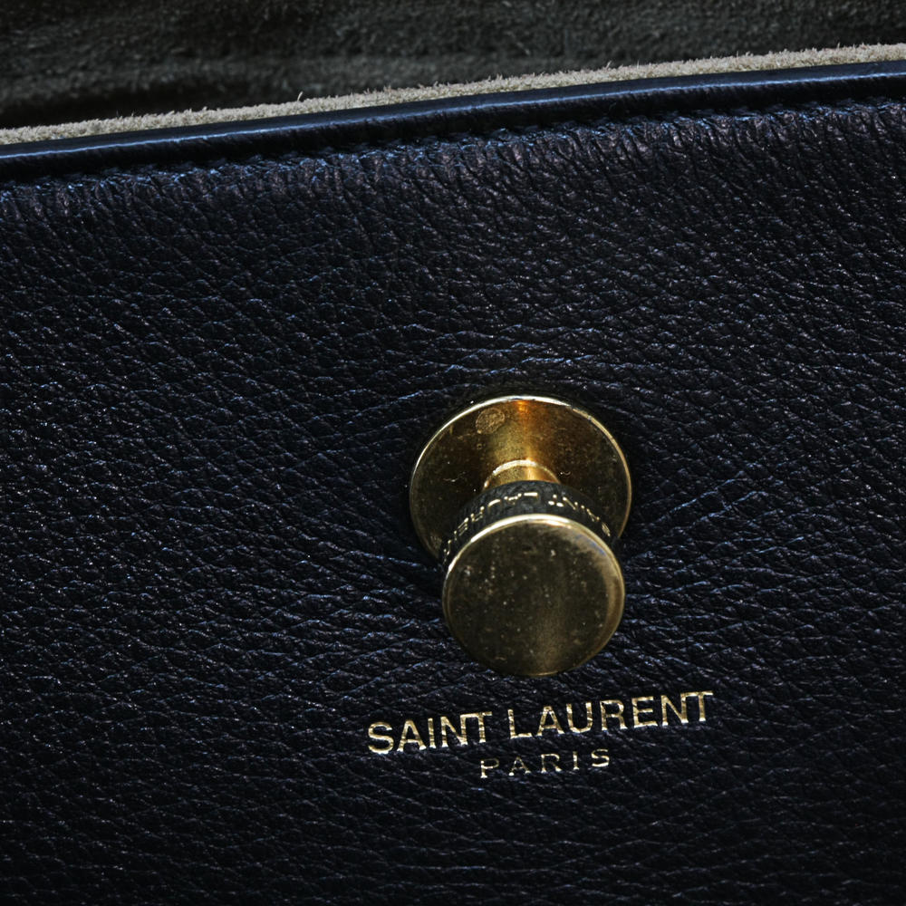 299013421d3a906cd6c458118ae5839a. YSL Muse Two Tone bag Black Brown leather  Tote Gold hardware Yves Saint Laurent ... 20235656bd