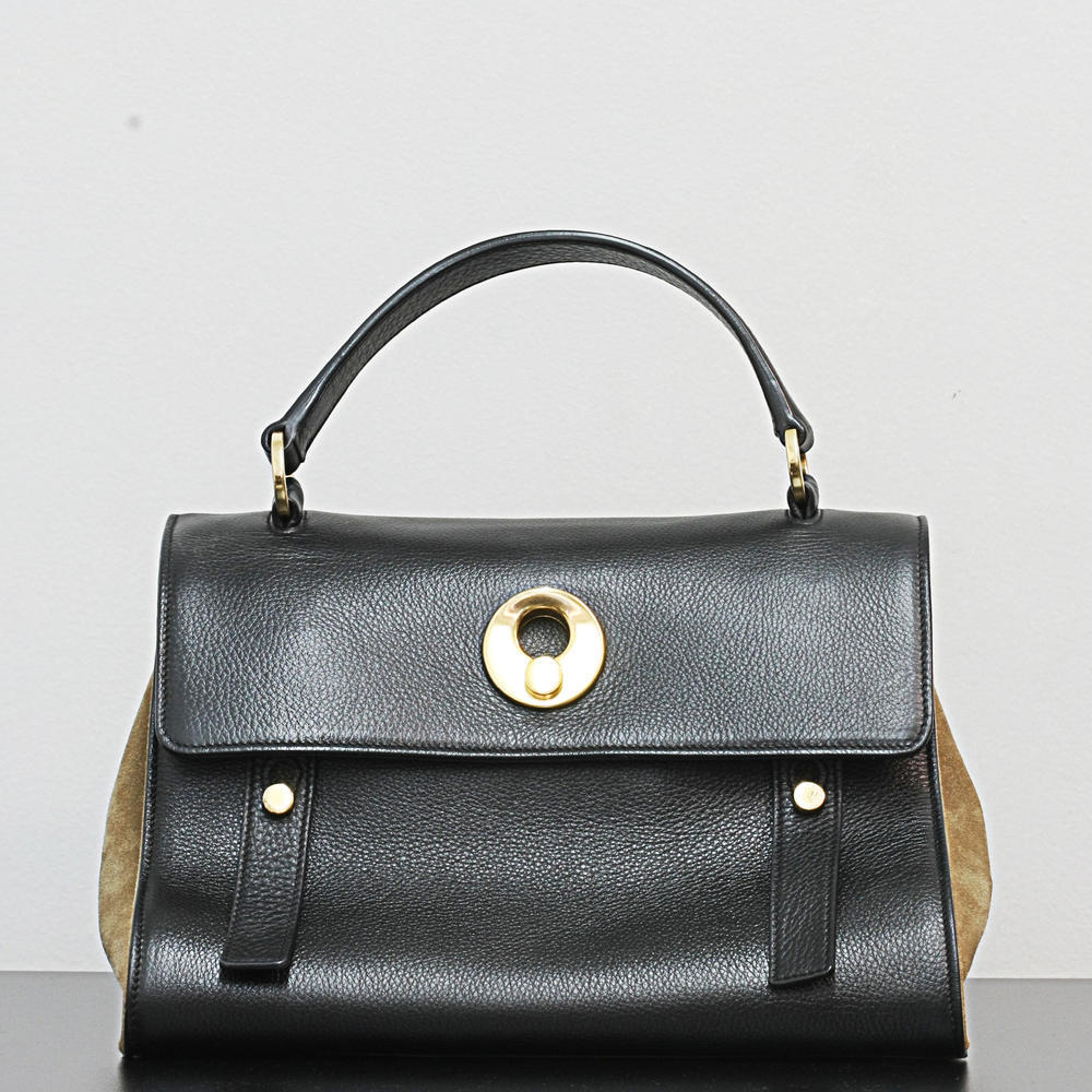 YSL Muse Two Tone bag Black Brown leather Tote Gold hardware Yves Saint  Laurent   Online Pawn Shop   Out Of Pawn dbd3c7cf43
