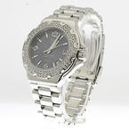 TAG HEUER 38mm Ladies Formula 1 Diamond Bezel Stainless Steel Watch Looks New !
