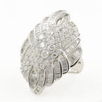 Modern Exquisite Ladies 14K White Gold Diamond 4.80CTW  Cocktail Ring