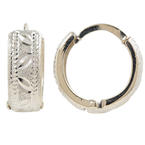 Charming Vintage Estate 14K White Gold 20MM Huggie Hoop Ladies Earrings