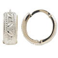 Classic Estate Ladies 14K White Gold 20MM Huggie Hoop Earrings